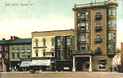 Hotel Nester Geneva New York Other Visible Businesses Include The Vienna Las Tailors Clothing House Perry M Jacobs Chaz Holz Tailor